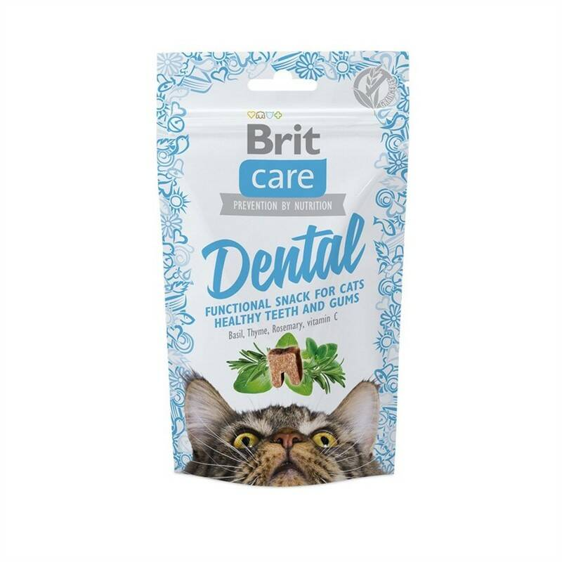 Pochúťka Brit Care Cat Snack Dental 50g
