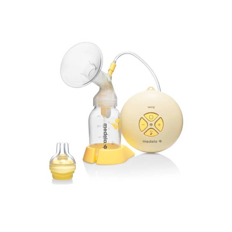Odsávačka materského mlieka Medela Swing - 2-fázová včetně Calma systému žlutá/bílá/transparentní