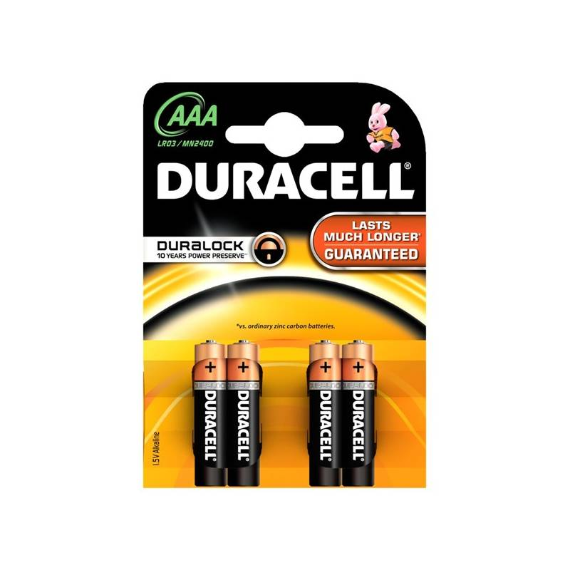 Batéria alkalická Duracell Basic AAA 2400 K4 Duralock