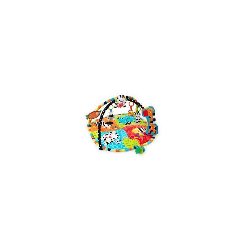 Hracia deka s hrazdou Bright Starts Spots&Stripes Safari™, 2016 červená/modrá/zelená/oranžová