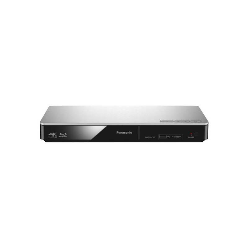 3D Blu-Ray prehrávač Panasonic DMP-BDT181EG strieborný