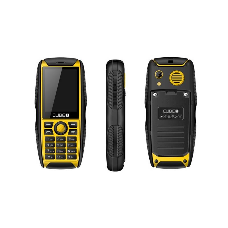 Mobilný telefón CUBE 1 S200 Dual SIM (MTOSCUS200051) čierny/žltý Software F-Secure SAFE, 3 zařízení / 6 měsíců (zdarma)