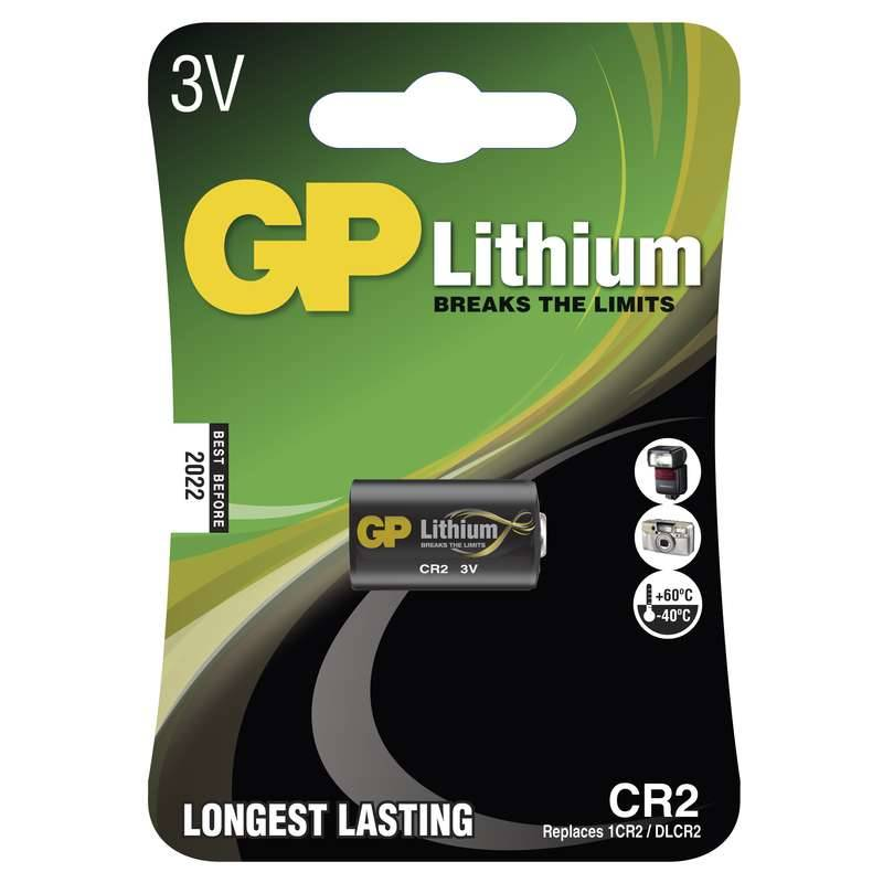 Baterie lithiová GP CR2, blistr 1ks