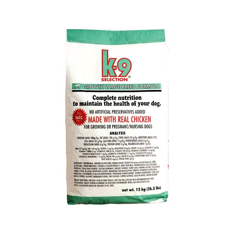 Granule K-9 Growth Large Breed 20 kg