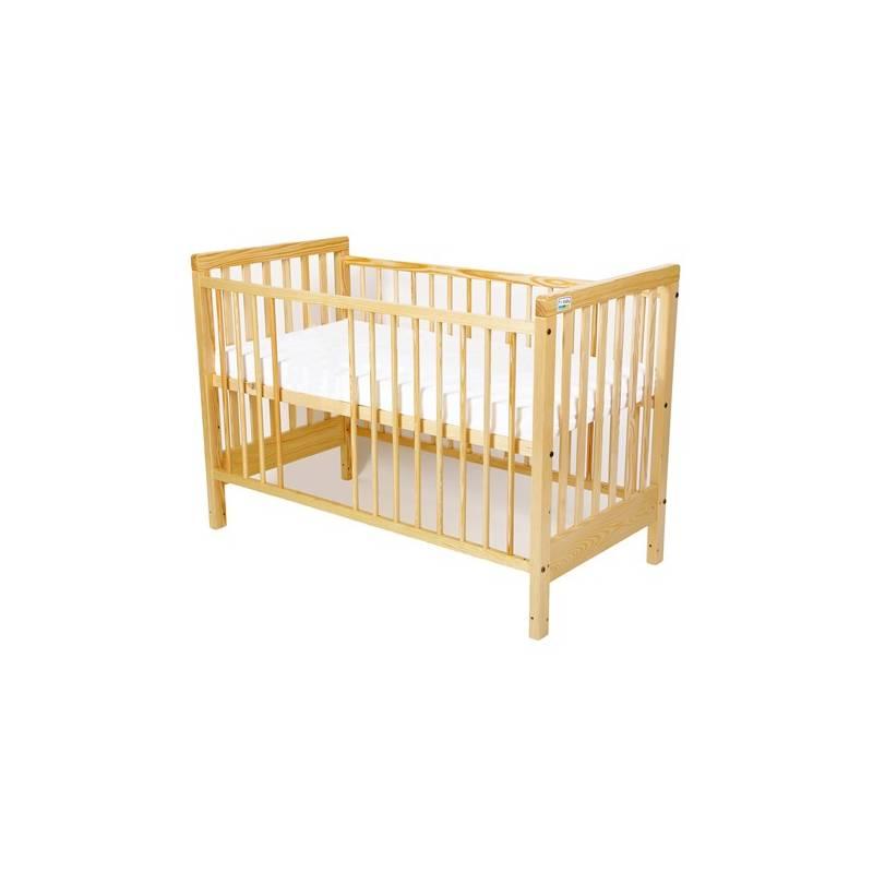 Postieľka detská drevená For Baby Věra vyndavací příčky borovice Hudební hračka Taf Toys Oslík (zdarma)