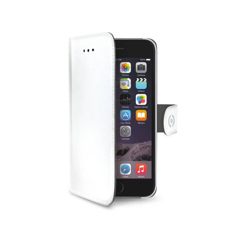 Puzdro na mobil flipové Celly Wally pro Apple iPhone 6/6S (WALLY700WH) biele
