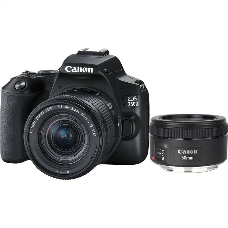 Digitálny fotoaparát Canon EOS 250D + 18-55 IS STM + 50f/1.8 STM (3454C013) čierny + Doprava zadarmo