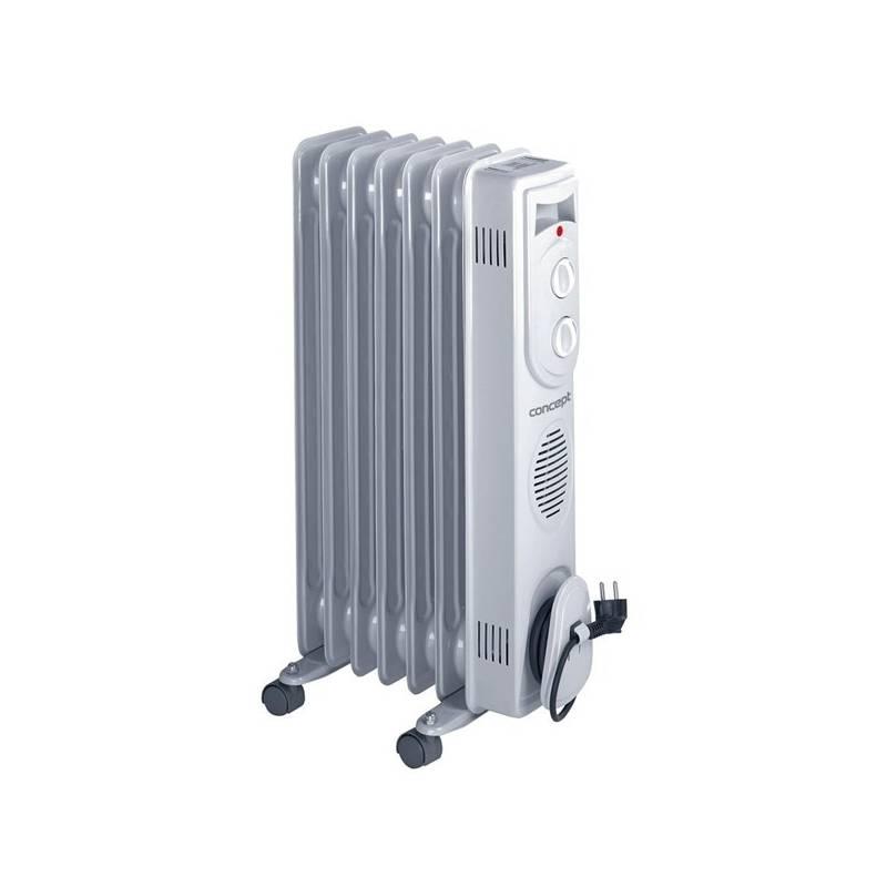 Olejový radiátor Concept RO-3107 sivý
