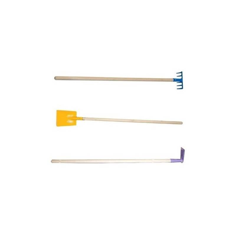 Set výrobkov CEV lopatka 445201 + hrábě 445041 + motyčka 445251