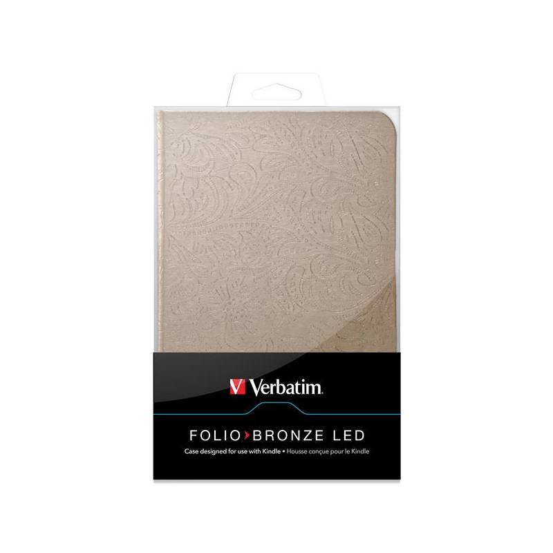 Puzdro na tablet Verbatim Folio Bronze LED pro Kindle (98081)