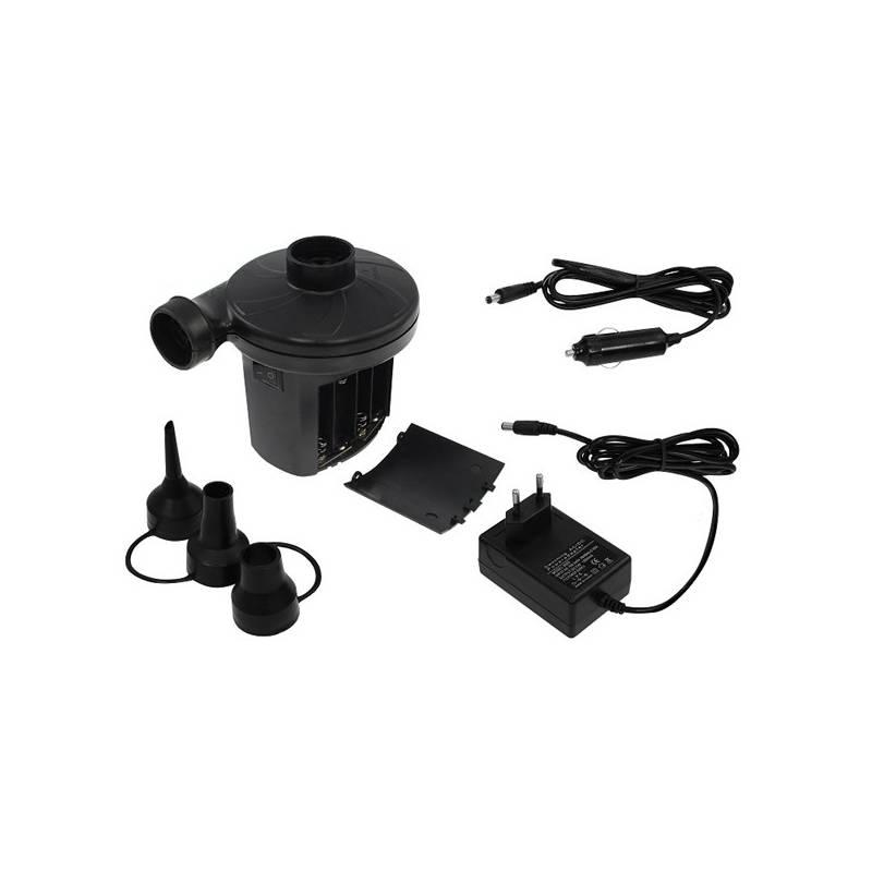 Pumpička LIFEFIT na 12V/220V/baterie k nafukovací matraci čierna