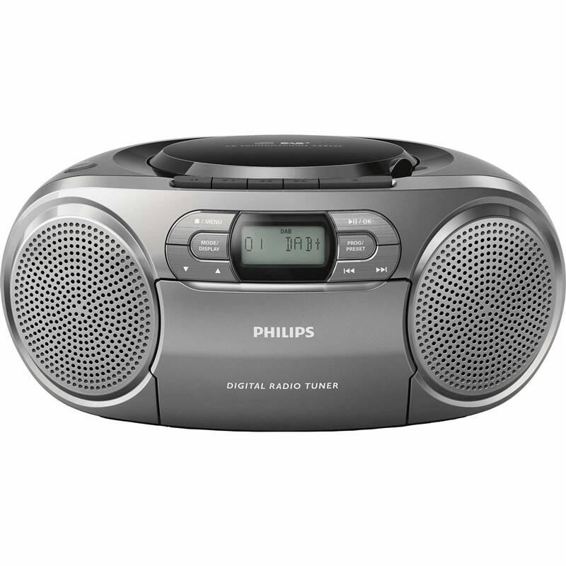 Rádiomagnetofón s DAB+/CD Philips AZB600 sivý