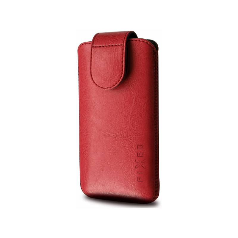 "Puzdro na mobil flipové FIXED Sarif 5XL+ (vhodné pro 5,2"" - 5,7"") (RPSFM-011-5XL+) červené"