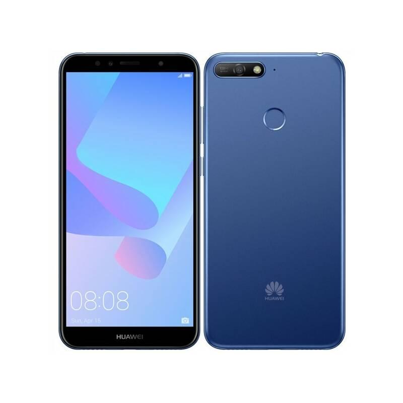 Mobilný telefón Huawei Y6 Prime 2018 Dual SIM (SP-Y6P18DSLOM) modrý Power Bank Forever 10000 mAh 2xUSB - šedá/bílá (zdarma)Software F-Secure SAFE, 3 zařízení / 6 měsíců (zdarma)Kryt na mobil Huawei Y6 Prime (2018) - průhledný (zdarma)