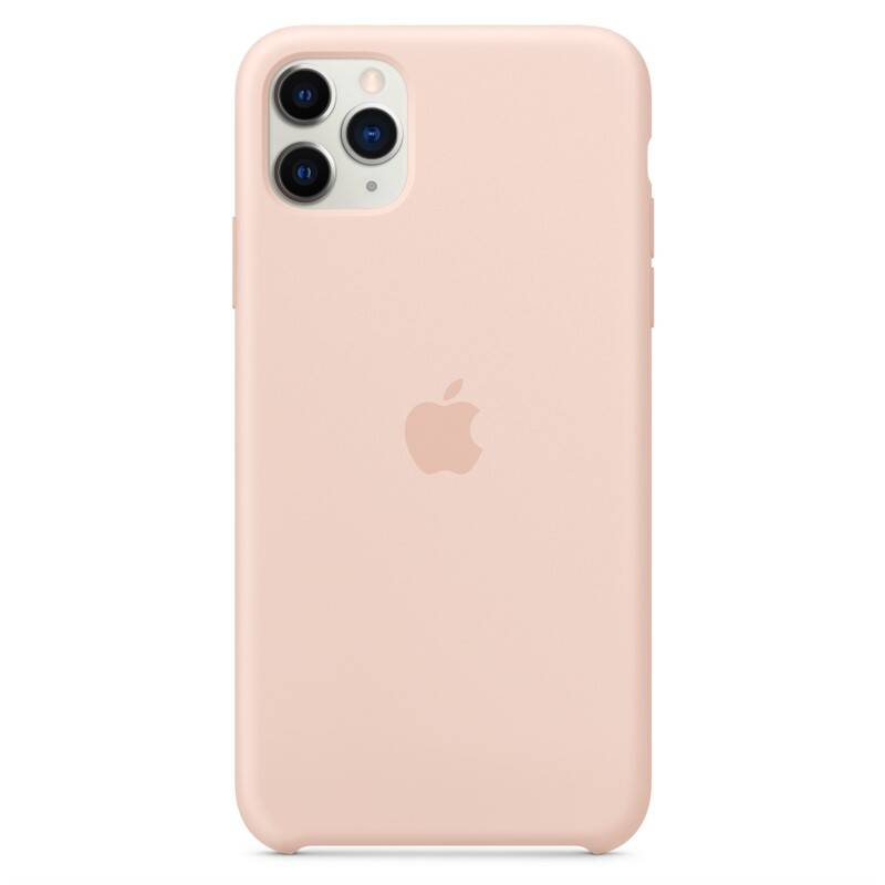 Kryt na mobil Apple Silicone Case pro iPhone 11 Pro Max - pískově růžový (MWYY2ZM/A)