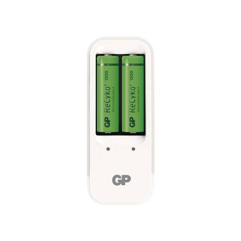 Nabíjačka GP PB410 pro AA. AAA + 2x AA ReCyko+ (1300mAh) (1604141000) biela