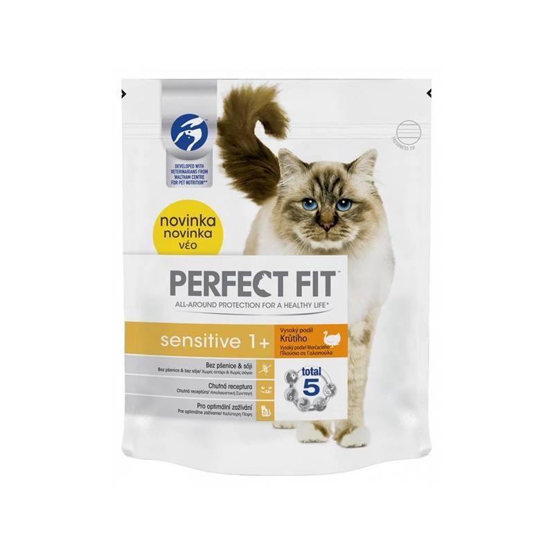 Granule Perfect Fit Cat Sensitive s krůtím 750g