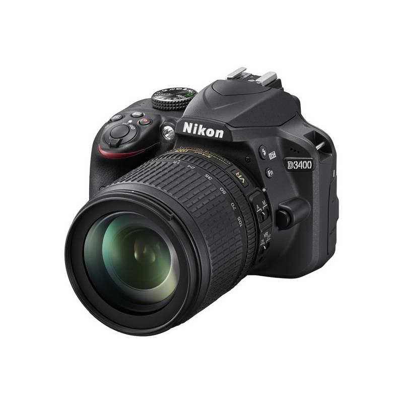 Digitálny fotoaparát Nikon D3400 + 18-105 AF-S DX VR + 4x čištění čipu zdarma (VBA490K003) čierny Dalekohled Nikon 8×21 Aculon T01, bílý (zdarma) + Doprava zadarmo