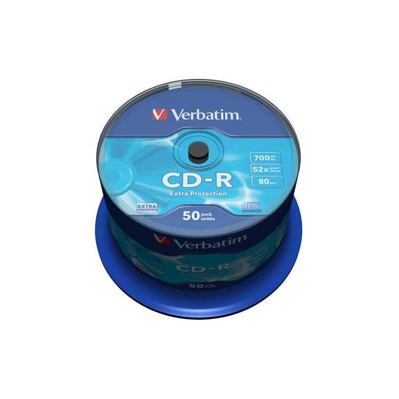 Disk Verbatim Extra Protection CD-R DL 700MB/80min, 52x, 50-cake (43351)