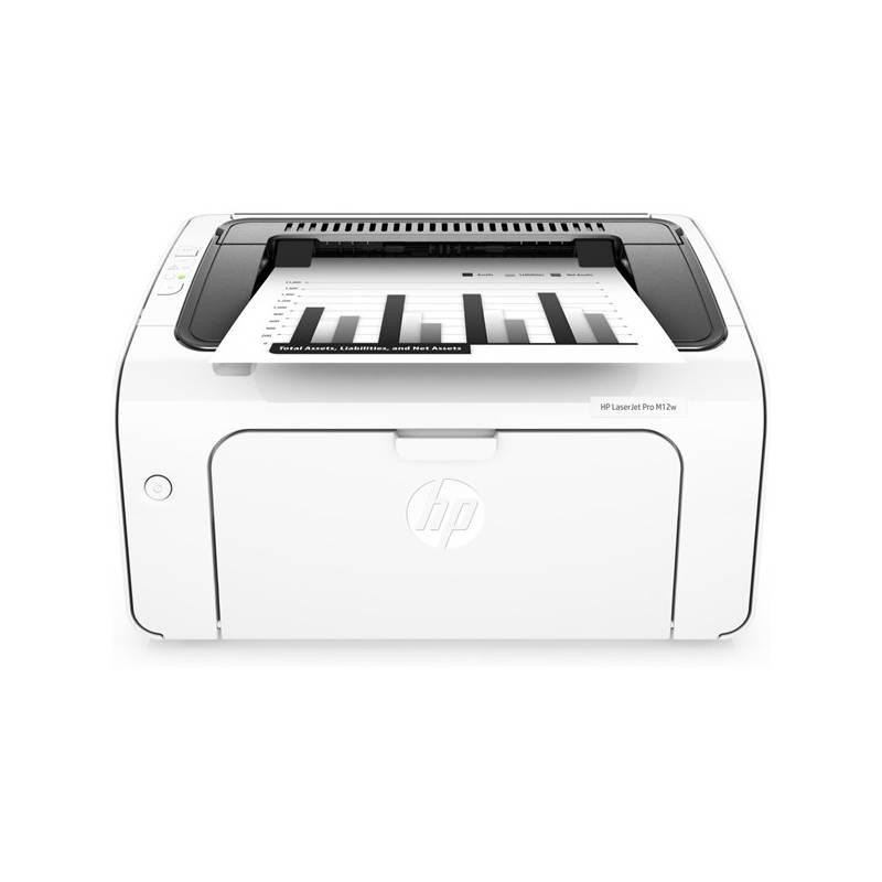 Tlačiareň laserová HP LaserJet Pro M12w (T0L46A) biela farba