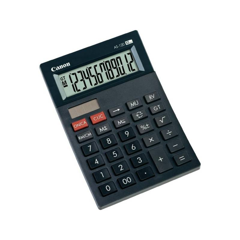 Kalkulačka Canon AS-120 (4582B003AB) čierna