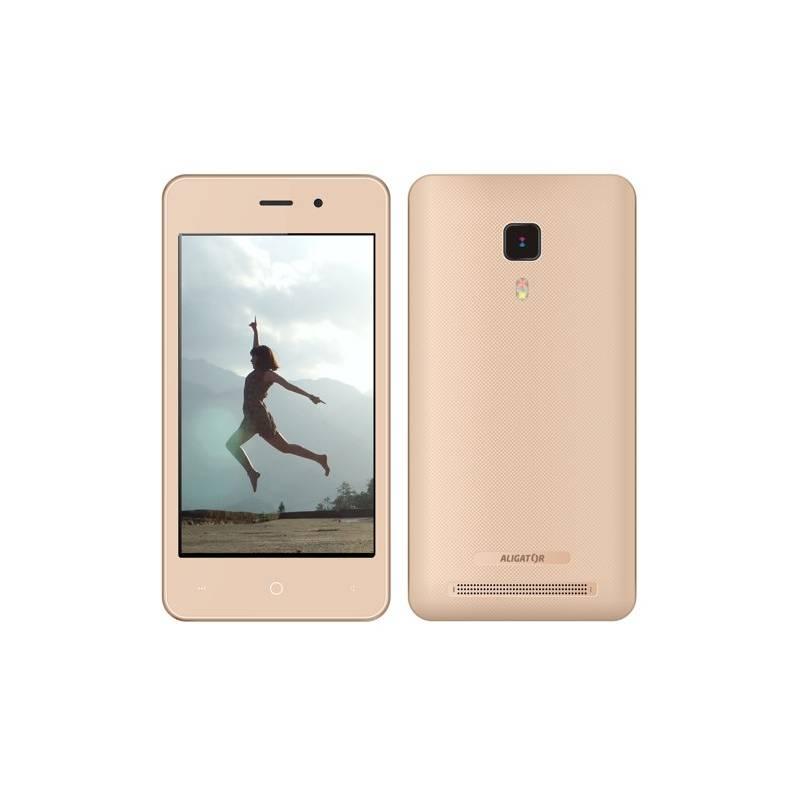 Mobilný telefón Aligator S4080 Dual SIM (AS4080GD) zlatý