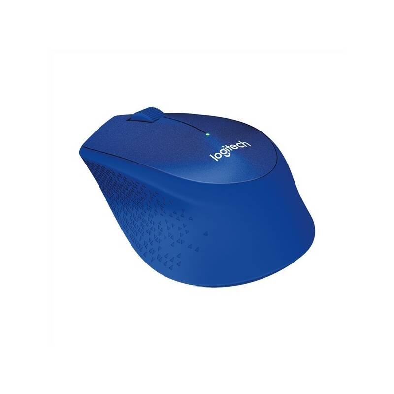 Myš Logitech Wireless Mouse M330 Silent Plus (910-004910) modrá
