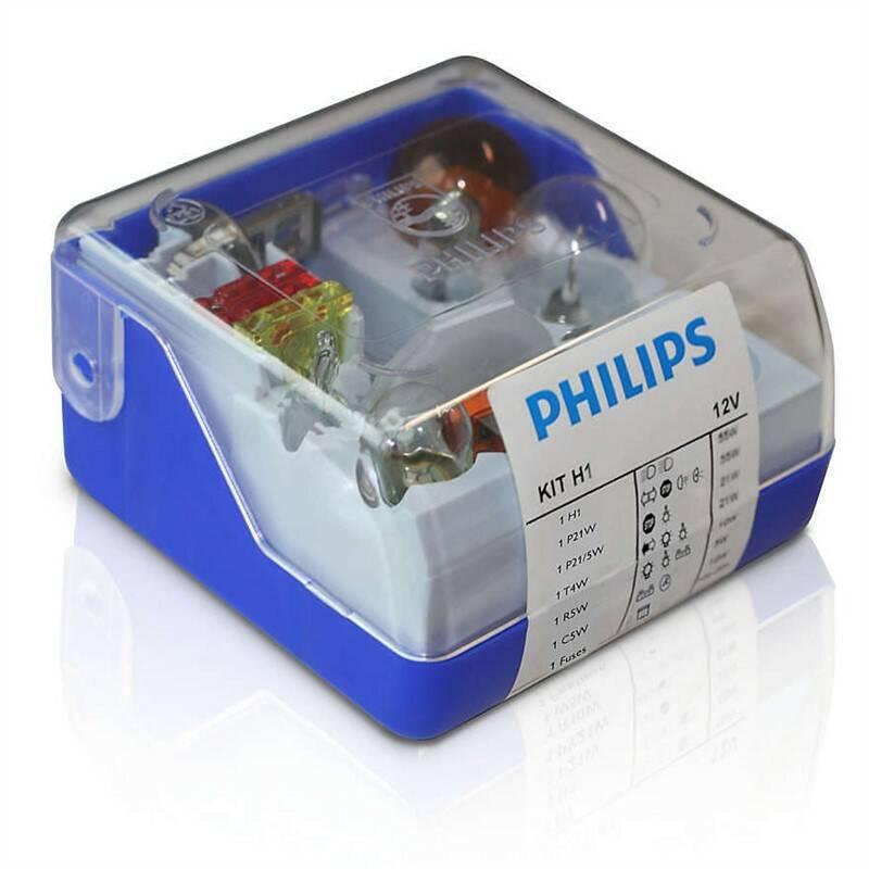 Sada Philips náhradních autožárovek H1 (55008SKKM)