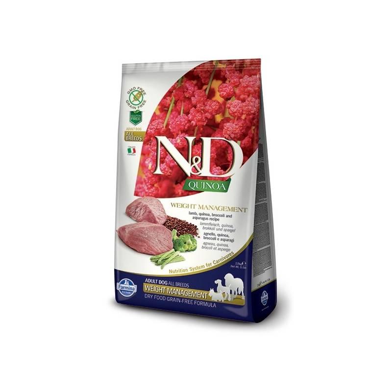 Granule N&D Grain Free Quinoa DOG Weight Mngmnt Lamb & Broccoli 7 kg + Antiparazitní obojek Scalibor Protectorband pro psy - 48 cm v hodnote 12.00 €