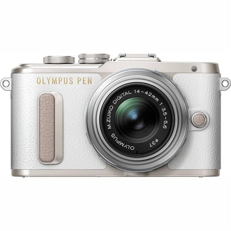 Digitálny fotoaparát Olympus E-PL8 + 14-42 Kit (V205081WE000) strieborný/biely