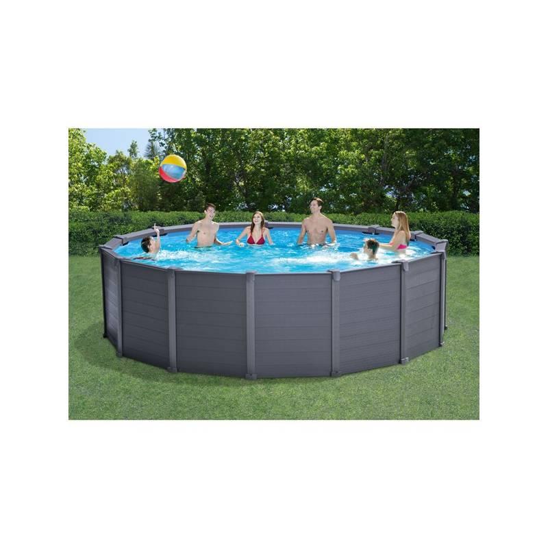 Bazén Intex Graphite Gray Panel Pool 4,78 x 1,24 m (26382NP) + Doprava zadarmo