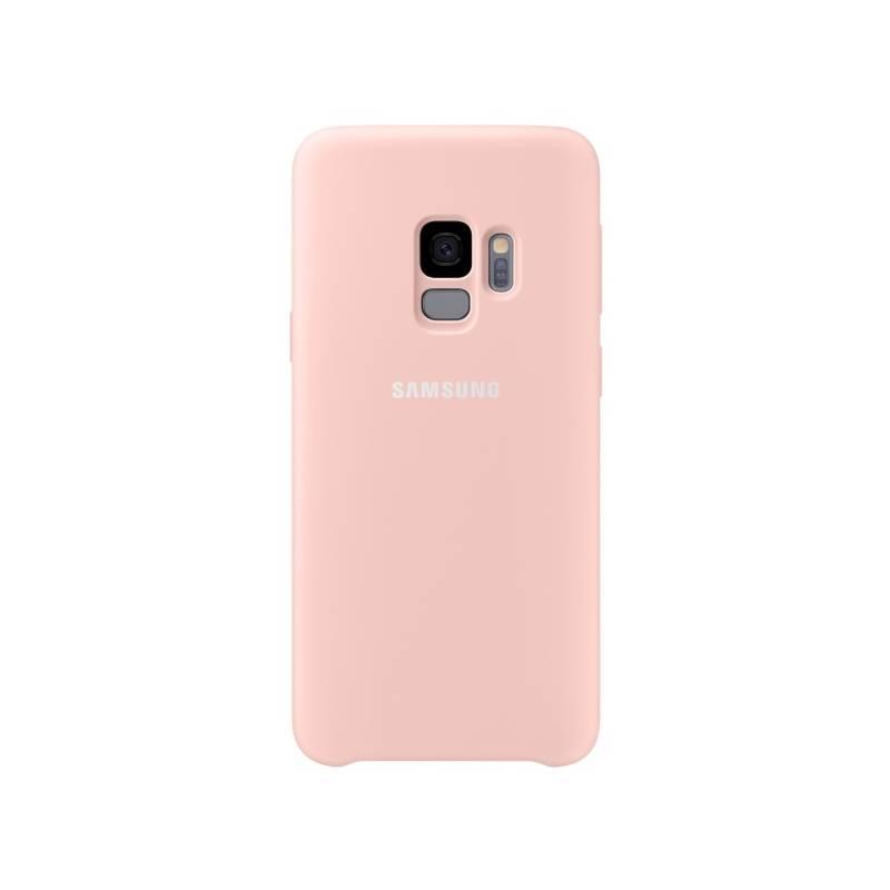 Kryt na mobil Samsung Silicon Cover pro Galaxy S9 (EF-PG960T) (EF-PG960TPEGWW) ružový