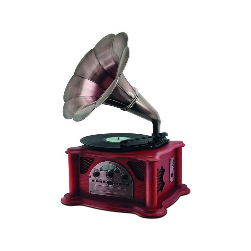 Gramofón Sencor STT 018TUBE s CD/USB/SD (35038326)