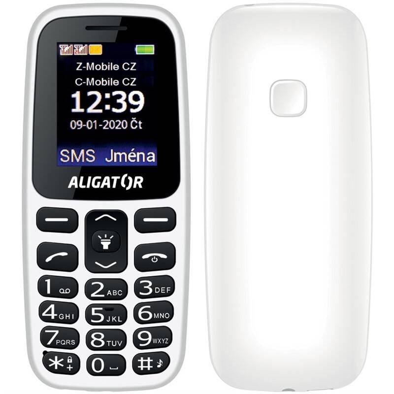 Mobilný telefón Aligator A220 Senior Dual SIM (A220WT) biely