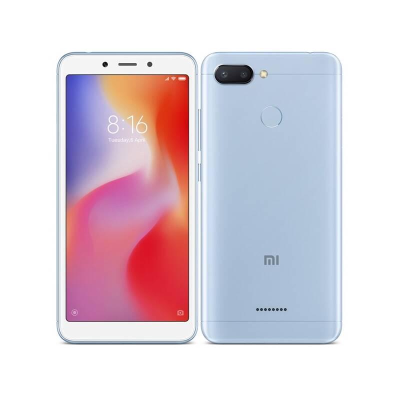 Mobilný telefón Xiaomi Redmi 6 Dual SIM 32 GB (18985) modrý + Doprava zadarmo