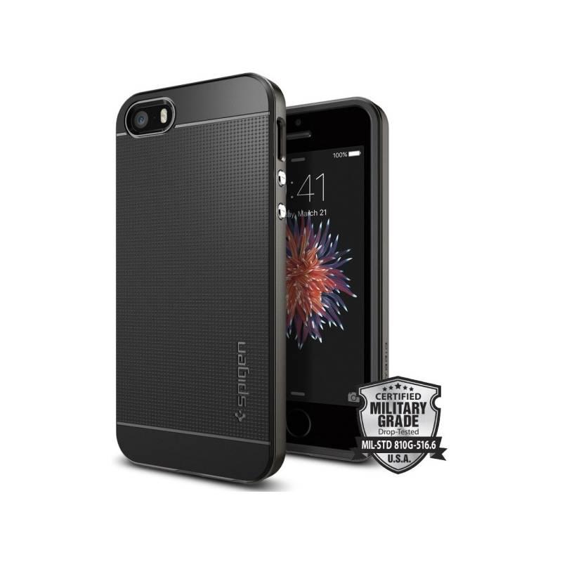 Kryt na mobil Spigen Neo Hybrid Apple iPhone 5/5s/SE - gunmetal (041CS20184)