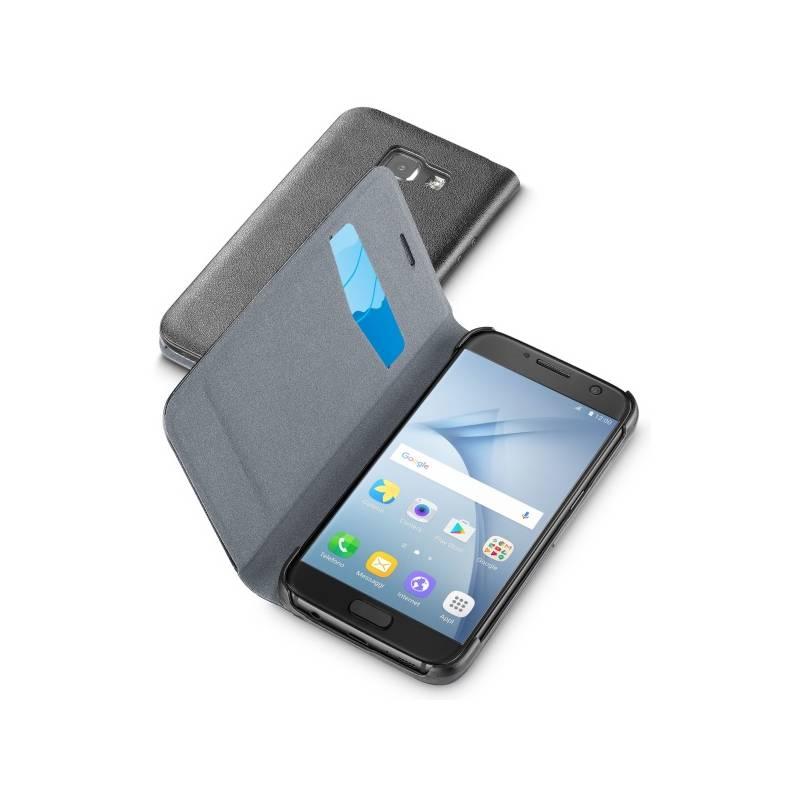 Puzdro na mobil flipové CellularLine Book Essential pro Samsung Galaxy A3 (2017) (BOOKESSGALA317K) čierne