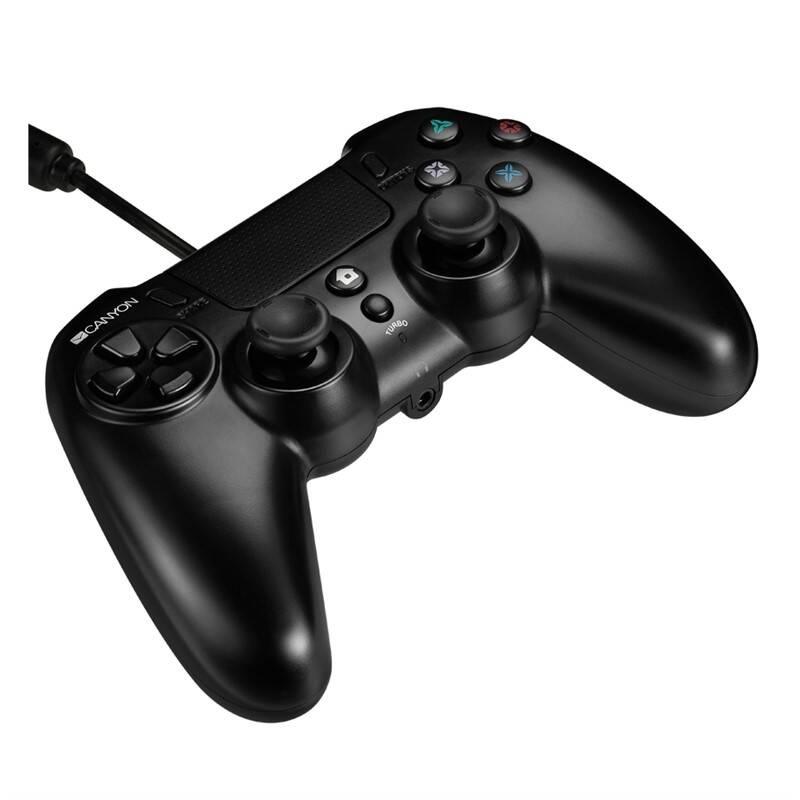 Gamepad Canyon pro PS4, drátový (CND-GP5) černý
