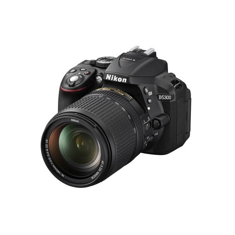 Digitálny fotoaparát Nikon D5300 + 18-140 AF-S VR Dalekohled Nikon 8×21 Aculon T01, bílý (zdarma) + Doprava zadarmo