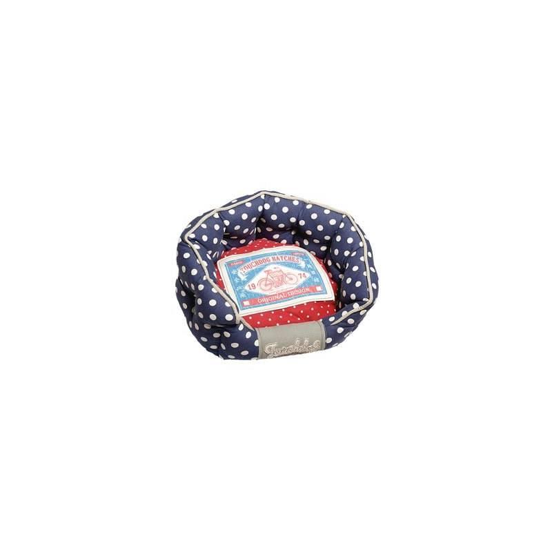 Pelech Karlie Touchdog oválný 65 x 56 x 22 cm červený/modrý