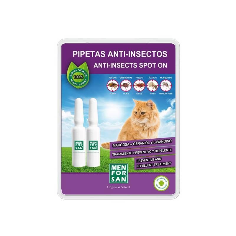Pipety Menforsan antiparazitné pre mačky 2 ks