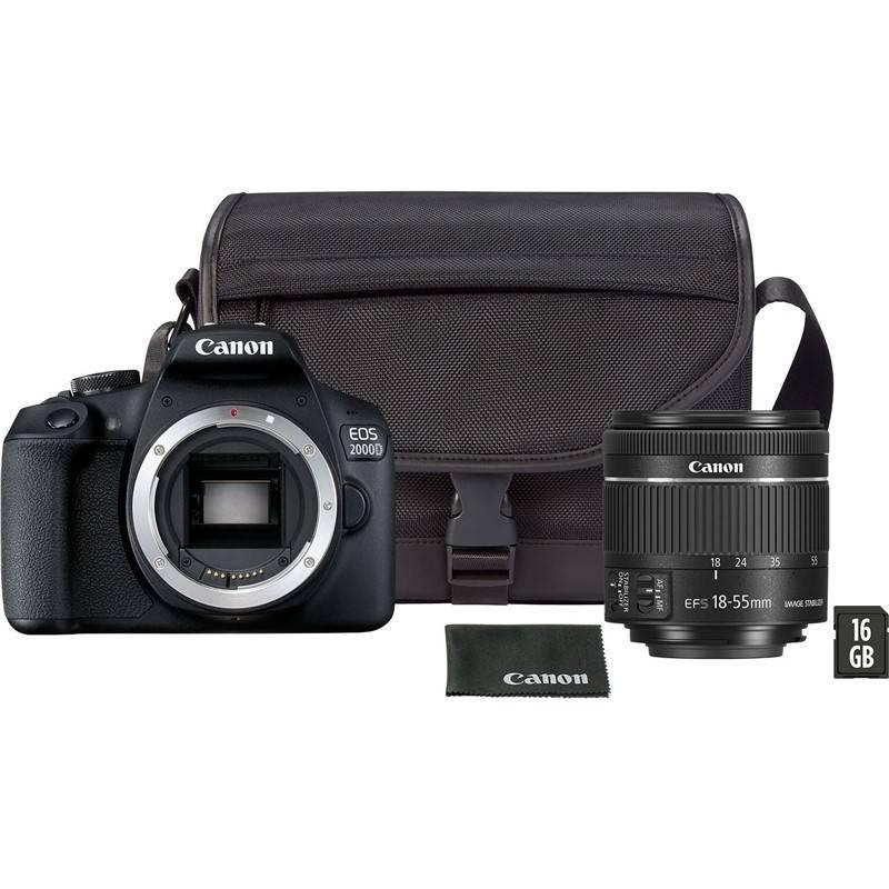 Digitálny fotoaparát Canon EOS 2000D + 18-55 mm DC + VUK (2728C054) čierny + Doprava zadarmo