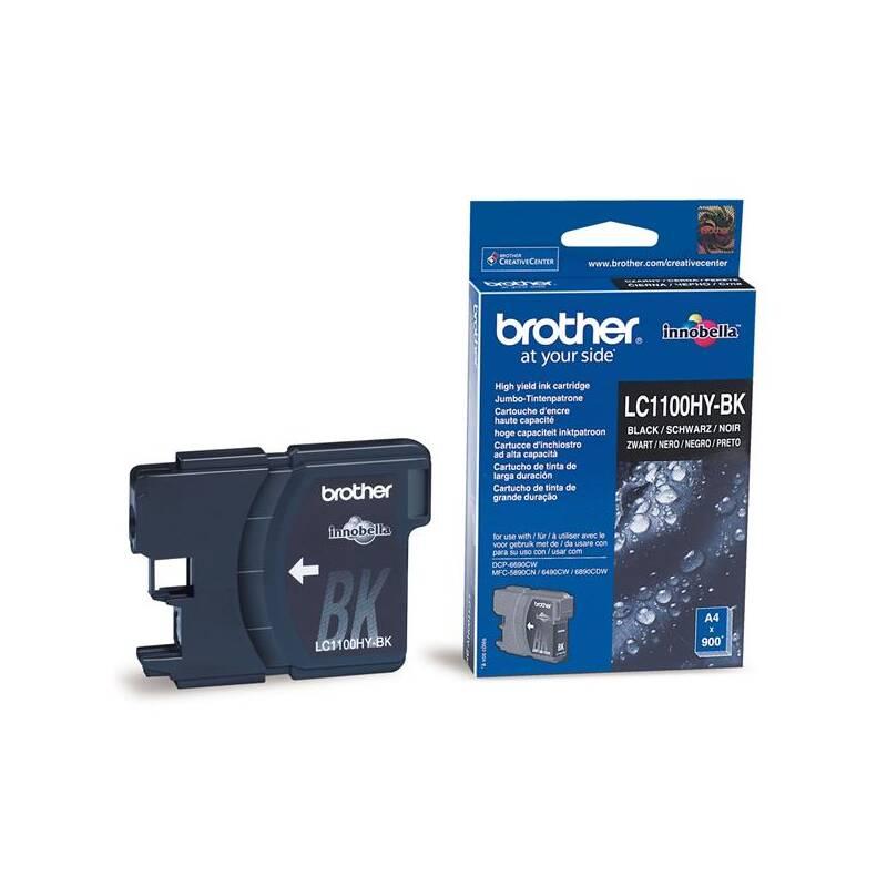 Cartridge Brother LC1100HYBk, 900 stran - originální (LC1100HYBk) čierna