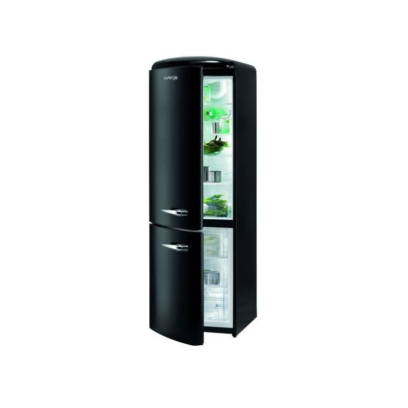 d98a60724 Kombinácia chladničky s mrazničkou Gorenje Retro RK 60359 OBKL čierna