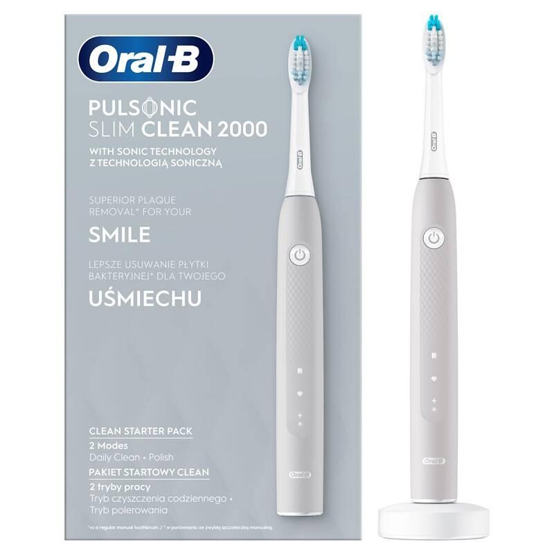 Zubná kefka Oral-B Pulsonic Slim Clean 2000 Grey + Doprava zadarmo