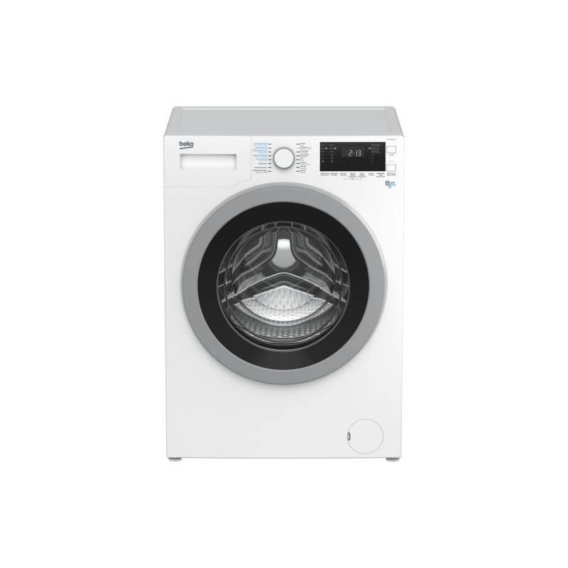 Pračka se sušičkou Beko HTV 8733 XS0 stříbrná/bílá
