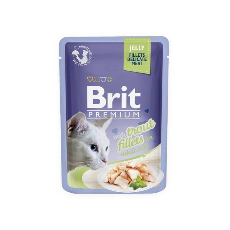 Kapsička Brit Premium Cat D Fillets in Jelly with Trout 85 g