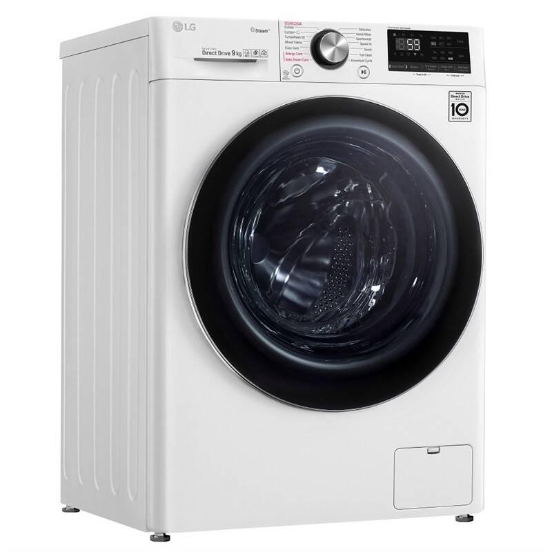 Pračka LG F4WN909S2 bílá + LG 10 let záruka na invertorový motor