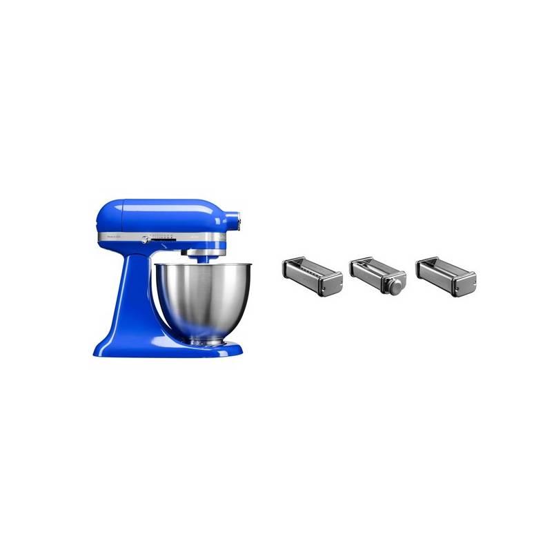 Set KitchenAid - kuchyňský robot 5KSM3311XETB + KPRA sada strojků na těstoviny + Doprava zadarmo