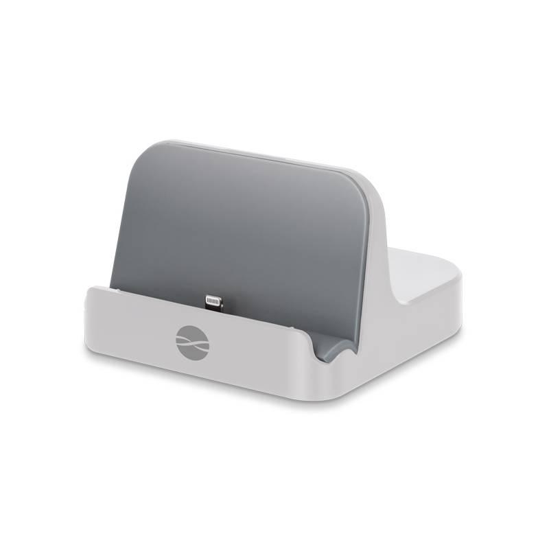 Nabíjací stojan Forever PDS-02 MFI pro Apple iPhone 5/6 (ATCAPIP5DSMFITFWH) biely